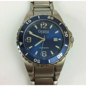 Vintage Caravelle Bulova Men's Watch Silver Tone